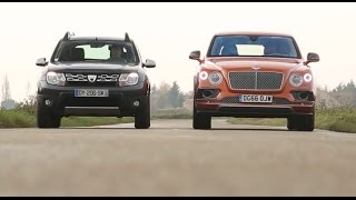 Download 2017 Dacia Duster vs Bentley Bentayga [COMPARATIF w/ENG SUBTITLES] : le choc des extrêmes Video