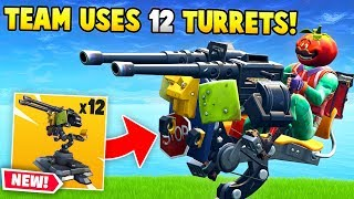 Download *NEW* Team uses 12 MOUNTED TURRETS! (Fortnite FAILS & Funny Moments #29) Video