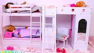 Download Baby Doll Bunk Bed Bedroom House Toy! Play Doll Wardrobe Closet and Dress up Dolls! Video