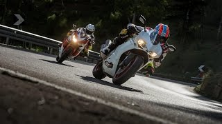 Download DUCATI 959 PANIGALE vs HONDA FIREBLADE SP | InterviewsRoad Tests | Motorcyclenews Video