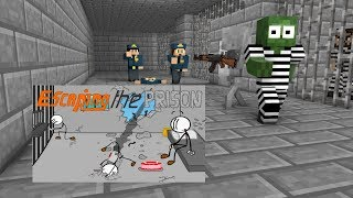 Download Monster School : Escaping the Prison - Minecraft Animation Video