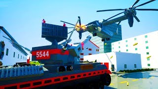 Download ANTI AIR TANK SHOOTS DOWN GIANT HELICOPTER IN BRICKSVILLE! - Brick Rigs Workshop Creations Gameplay Video