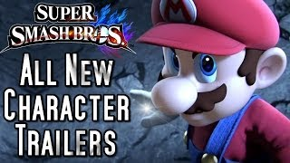 Download Super Smash Bros ALL New Character Trailers Video