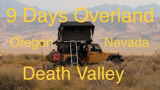 Download Jeep Camping - 9 Days - Overland Car Camping in the Jeep Wrangler Video