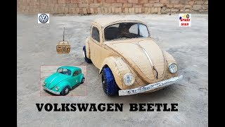 Download WOW! Super RC Volkswagen Beetle 1965 || How to make Cardboard Beetle || DIY || Electric Toy Car Video