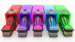 Download Learn Color for kids with Mixer Truck & Color Cars Beautiful Video