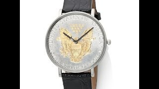 Download Croton CurrenC US Silver Dollar Strap Watch Video