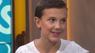 Download Millie Bobby Brown interview about cutting her hair and Winona Ryder Video