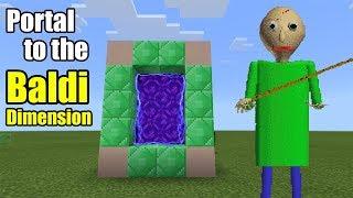 Download Portal to the BALDI Dimension | Minecraft PE Video