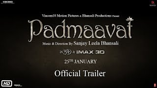 Download Padmaavat | Official Trailer | Ranveer Singh | Shahid Kapoor | Deepika Padukone Video