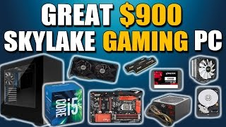 Download Great $900 SKYLAKE Gaming PC Build 1080p Gaming PC March 2016 Video
