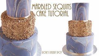 Download Marbled Sequins Cake Tutorial- Rosie's Dessert Spot Video