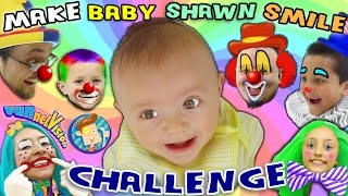 Download MAKE THE BABY SMILE CHALLENGE w/ Cutie Pie Shawn! (FUNnel Vision Family Fun!) Video
