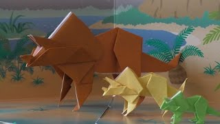 Download Origami adventure part 6: Dinosaurs (triceratops) Video