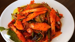 Download Sweet, Sour, & Spicy Mushrooms with Water Dropwort (버섯 미나리 초무침) Video