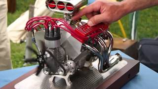 Download Mini CNC 4-axis and Miniature Chevrolet V8: Super Sound!! Video