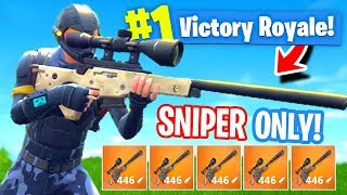 Download *NEW* Sniper ONLY Mode In Fortnite: Battle Royale Video