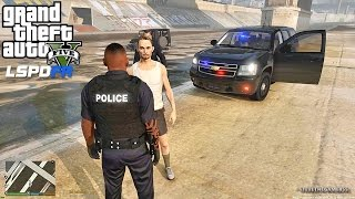 Download GTA 5 LSPDFR 0.3.1 - EPiSODE 395 - LET'S BE COPS - CITY PATROL (GTA 5 PC POLICE MODS) Video
