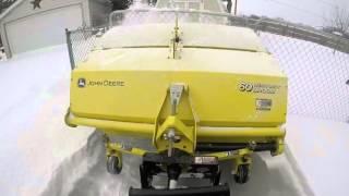 Download John Deere X748 with Broom in Deeper Snow Video