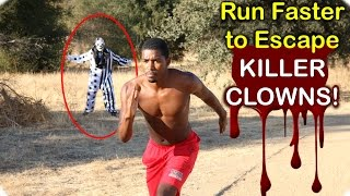 Download How to Run Faster to Escape Killer Clowns on Halloween! Video
