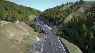 Download Transmission Gully motorway fly-through Video