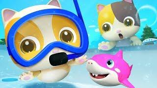 Download Five Little Babies Swimming Song | Nursery Rhymes | Kids Songs | Kids Cartoon | BabyBus Video