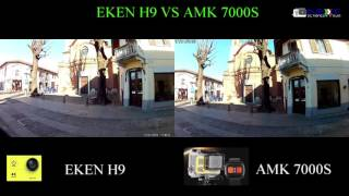 Download EKEN H9 VS AMK7000S with the same Sunplus 6350 and OV4689 Video
