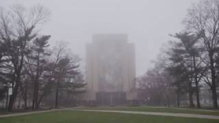 Download A foggy winter morning at Notre Dame Video
