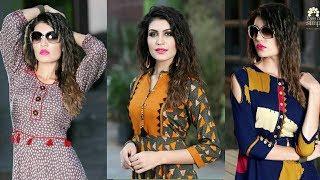 Download Designer Long Party Wear ,Stylish Fancy Long Double Layer Kurti Kurta For women's|Trendy India 25 Video