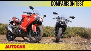 Download TVS Apache RR 310 vs KTM RC 390 I Comparison Test I Autocar India Video