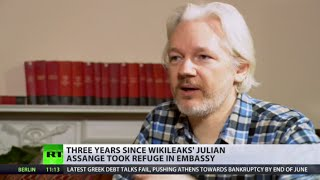 Download Assange Refuge: 3 years in embassy, policing costs abt £11,000 a day Video