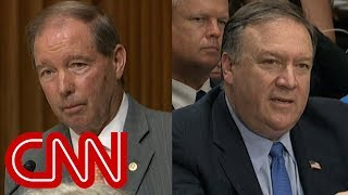 Download Senator questions Pompeo about Trump's business ties to Russia Video