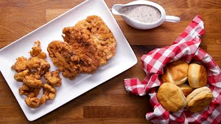 Download Country-Fried Cauliflower Steaks and Gravy • Tasty Video