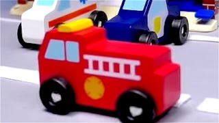 Download Cars for kids - Toy cars for children - Fire Truck - Police Car - Ambulance - Rainbow City Video