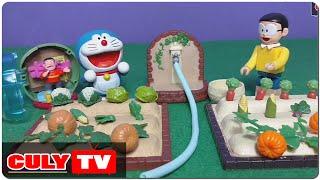 Download đồ chơi Doremon hài - Nobita trồng cây bí đỏ và bóc trứng bất ngờ Chaien đang hát - Doraemon Toy Video