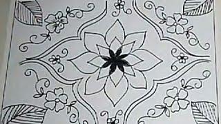 Sketsa Bunga Sketsa Batik Bunga Sederhana