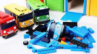 Download Tayo the Little Bus Friends Toys - Rogi Lani and Gani Build & Play with Tayo block Building! Video