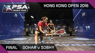 Download Squash: Hong Kong Open 2016 - Gohar v Sobhy - Final Highlights Video