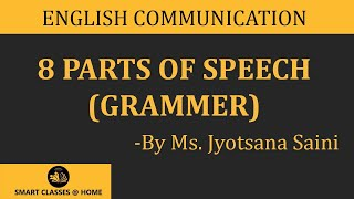 Download 8 parts of speech (grammar) lecture, BA, MA by Jyotsna Saini Video