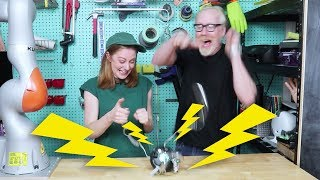 Download Playing electric shock games with Adam Savage Video