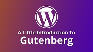 Download WordPress: A Little Gutenberg Introduction Video