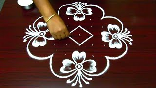 Download simple and creative rangoli designs || kolam designs with 9 dots || muggulu with dots Video