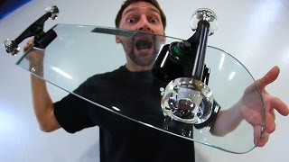 Download KICKFLIPPING A GLASS SKATEBOARD WITH GLASS WHEELS?! | YOU MAKE IT WE SKATE IT EP 72 Video