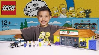 Download The KWIK-E-MART - LEGO SIMPSONS Set 71016 - Time-lapse Build, Unboxing & Review! Video