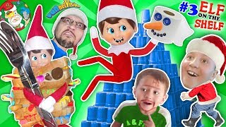Download STACKING CUPS Elf on the Shelf Tower! DIY Build a Snowman: Toilet Paper Craft (FUNnel Vision Vlog) Video