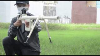 Download Homemade alcohol gun sniper (M200 cheytac) Video