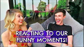 Download ME & ZOE REACTING TO OUR FUNNY MOMENTS! Video