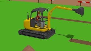 Download #Excavator Mini, Trucks   Street Vehicles   Construction of the airport   Maszyny drogowe Budowa Video