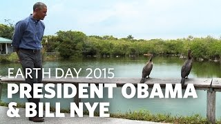 Download President Obama & Bill Nye Talk Earth Day in the Everglades Video