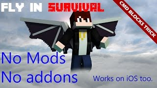 Download [MCPE] How to FLY in Survival (command blocks trick) Video